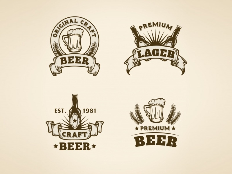 Bagstudio vintage beer badges 01