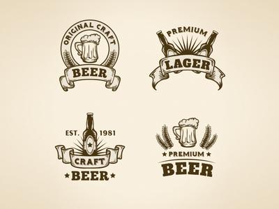 Vintage Beer Badges Collection