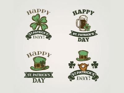 Saint Patrick badges collection