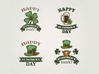 Saint Patrick badges collection