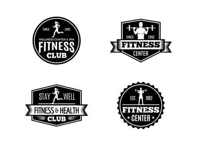 Gym & Fitness Badges Collection