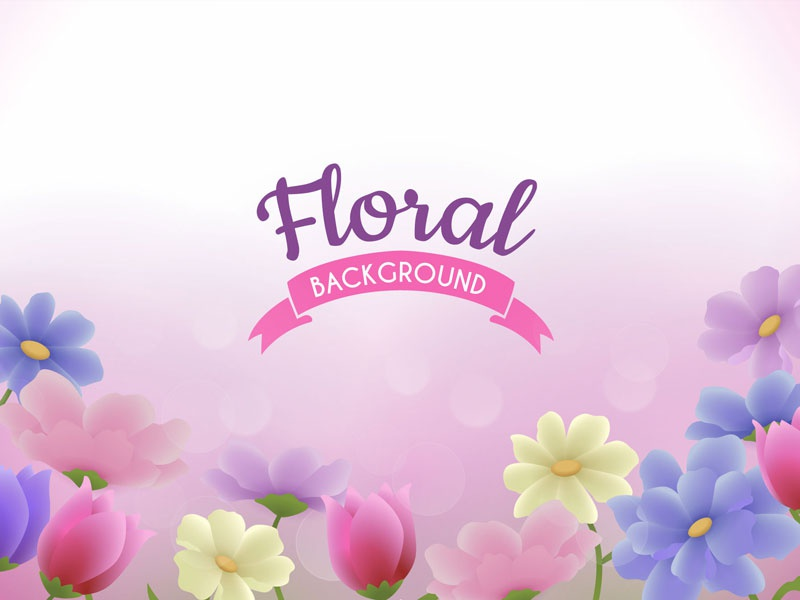 Floral Background nature vector romantic tulips pink design floral bloom spring flowers