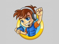 Gamer Kid Logo