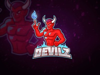 Red Devil Esport Logo