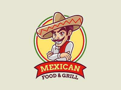 Mexican Logo Template mascot illustration mexico mexican sombrero burritos cartoon character restaurant food spicy charro texmex