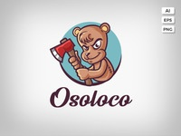 Osoloco logo template preview