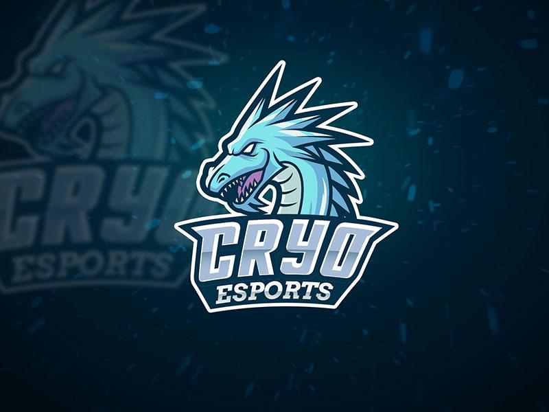 Ice Dragon Esport Team Logo team cold freeze sport esport monster beast wild logo dragon ice