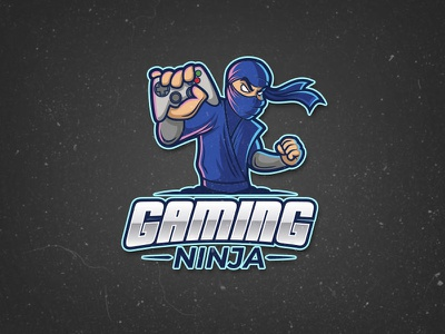 Gaming Ninja Logo sport player console joypad stealth joystick ninja logo esport team videogame gaming gamer