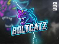 Boltcatz logo template preview
