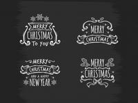 Blackboard Christmas Badges