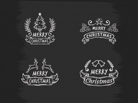 Blackboard Christmas Badges