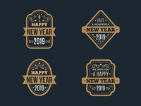 2019 New Year Badges Collection