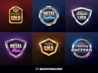 Vector 3d Badges Collection