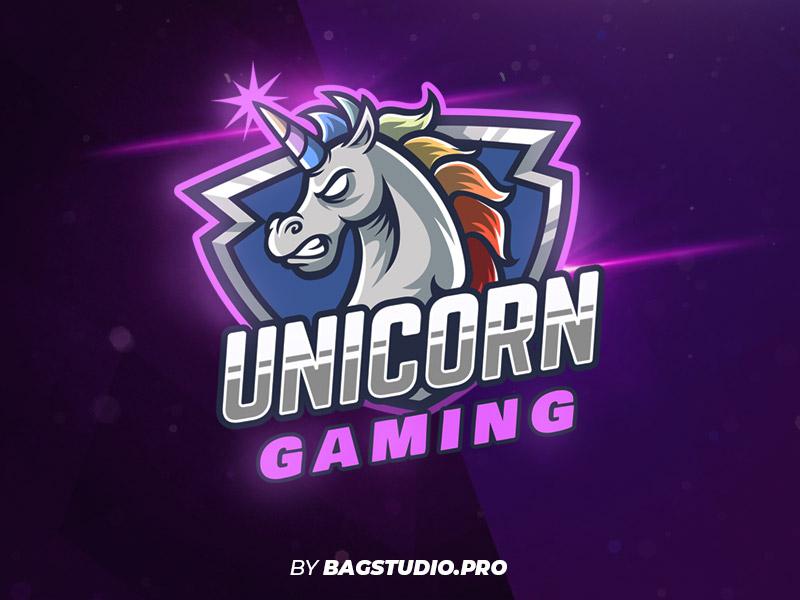 Unicorn Gamer Team Logo horse unicorn gaming team sportlogo esportlogo esport illustration character cartoon vector mascot logo