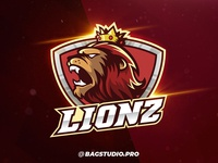King Lion Mascot & Esport Logo