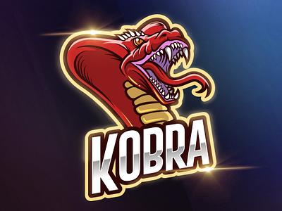 Cobra Logo Vector Esport Template gamer mascot esport team sport snake reptile poison logo emblem cobra badge