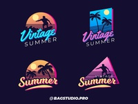 Retro Summer Badges Collection
