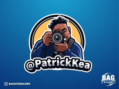 Photographer Cartoon Logo