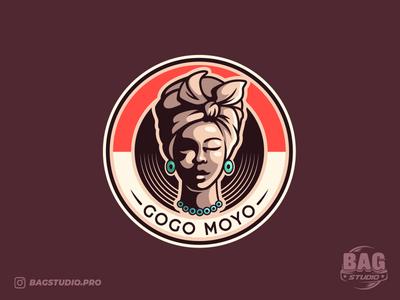 African Spirituality Logo Design badges vectorillustration illustrator character logodesign earthly logo african