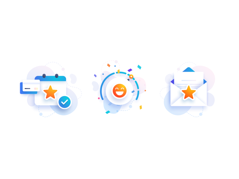 Grow Credit Icons brand style iconography colors colorful minimal clean app design ios web design interface website app ui modern illustration iconset icons