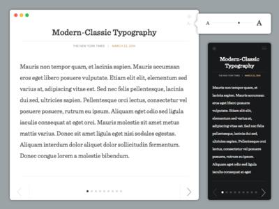 Modern Reader reader software modern typography yosemite reading product simple minimalistic simplistic