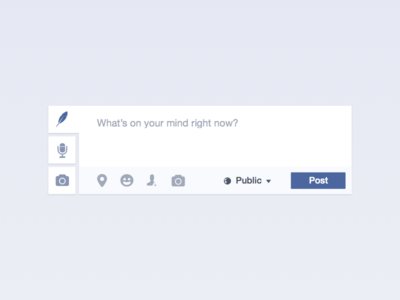 Facebook Status Redesigned redesign ui interface rethink post facebook comment status clean modern product