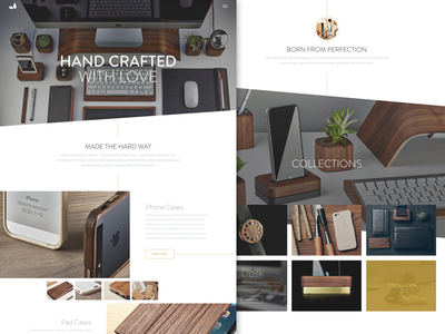 Grovemade Website Redesign redesign website ui concept grovemade wood modern clean white space craft webdesign interface