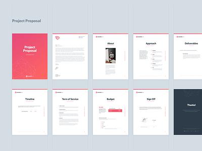 Project Proposal page layout stationary brand proposal template template freelance project proposal