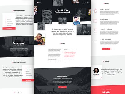 Bend Studio Website ui branding marketing studio agency landing page site clean layout web design web website