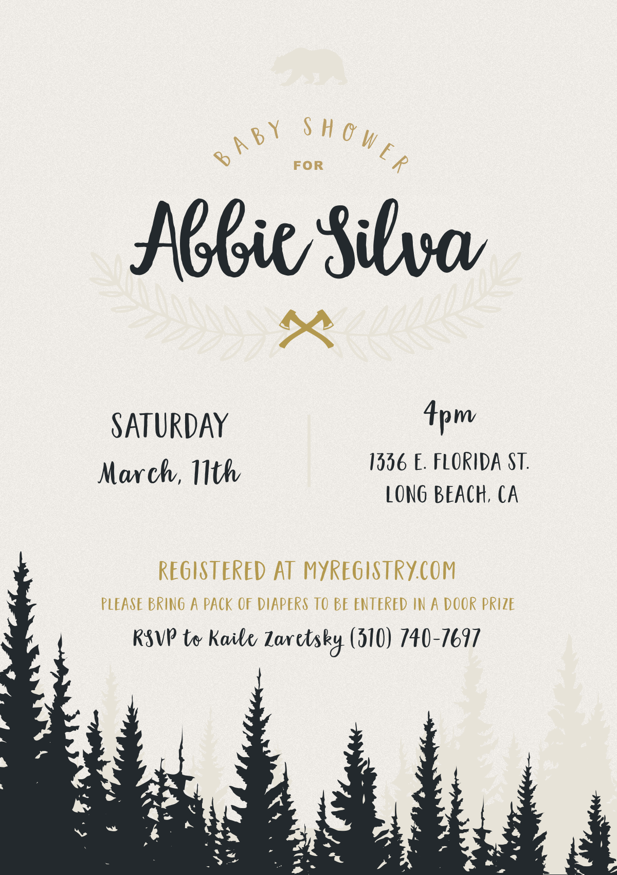 Abbie baby shower invitation