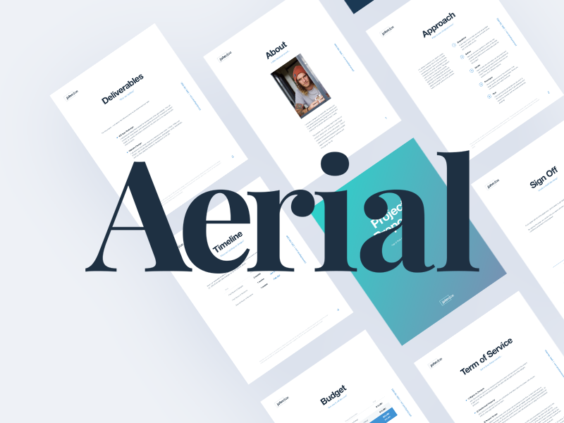 Aerial Proposal Template By Marcelo Silva Dribbble Dribbble