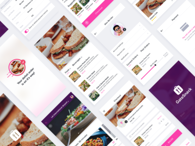 Food Delivery App modern experience delivery food clean interface ui ux ios mobile app design app