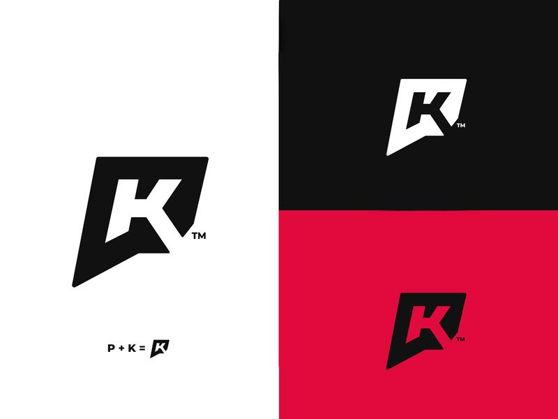 PK Monogram - Personal Branding monogram letter mark logomark brand monogram design monograms monogram logo monogram typography minimal logo illustrator logo design design branding