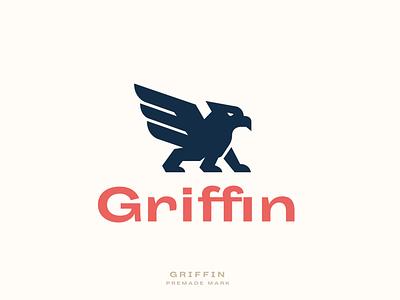 Griffin Mark illustration flat brand identity branding design illustrator minimal brand logo design design branding logotype logomark logo mark