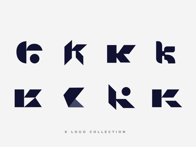 K Logo Collection k letter letter lettermark typography logotype illustrator brand minimal design branding logo design collection logo