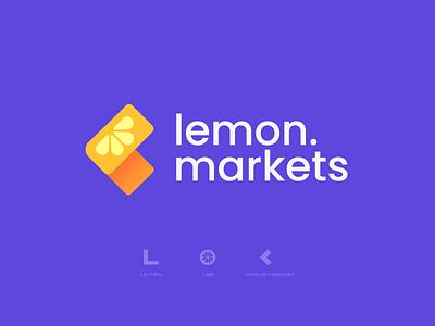 Lemon Markets Concept 1 logodesign logos saas design fintech saas typography brand illustrator brand identity logotype minimal design logo design logo branding