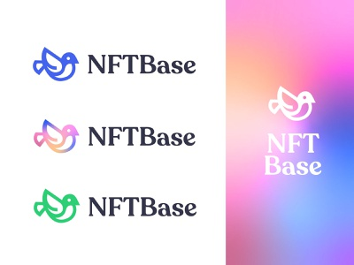 NFTBase Logo Variations nfts nft crypto wallet crypto typography branding design logotype brand identity illustrator brand minimal design logo design logo branding