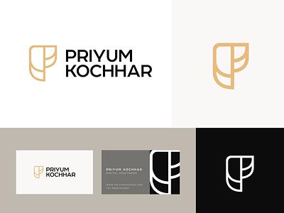 Priyum Kochhar© Brand Refresh '21 illustration typography vector ui illustrator brand minimal design logo design logo branding