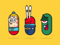 people icon in capsule shape