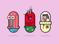 Characters icon in capsule shape