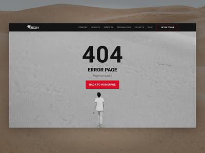 Error 404 - Page not found 404 error 404 error mistake ux ui web dailyui lost get lost desert