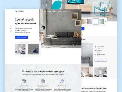 Ukrainian pargeting firm Landing Page design web hero section ux ui webdesign website landing interior home repair pargeting