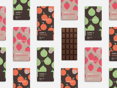 chocola+ design illustration logo branding