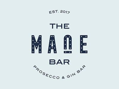 The Mane Bar blue weddings trailer horse gin bar prosecco events logo branding