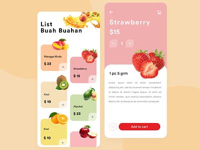 Shop App For Fruit fruit mobile app ux ecommerce shop
