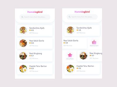 Menu Booking a Restaurant dashboard material ui mobile app ui ux list ui list inn spot cafe eatery restaurant