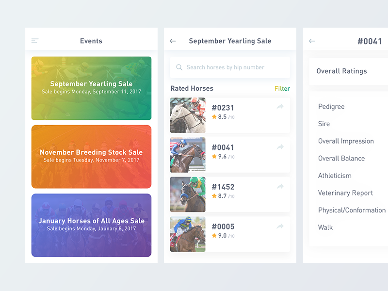 Horse Rating by Jeni Roxy on Dribbble