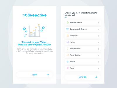 App Setup  setup category dashboard drag drop list sort fitnes uiux app mobile health
