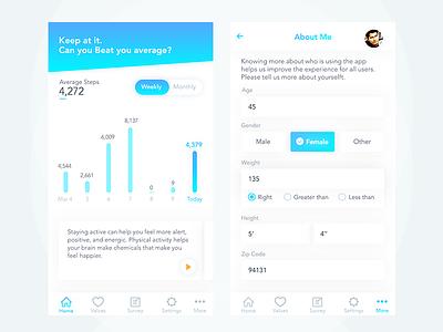 Health Dashboard clean crm company uiux app mobile field form dashboard