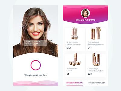 Makeupgram - Take photo and get makeup camera uiux mobile app instagram company beautiful girl cosmetic makeup photo